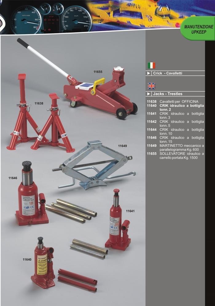 Catalogo prodotti crick idraulici e cavalletti per for Cavalletti auto